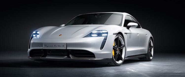 Porsche Taycan slide